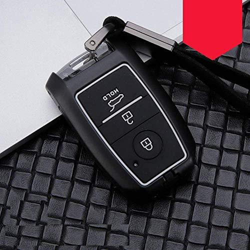 Funda para llave de coche, para Kia KX3, KX5, K3S, Rio Ceed Cerato Optima K5 Sportage Sorento (3 botones, negro y blanco)