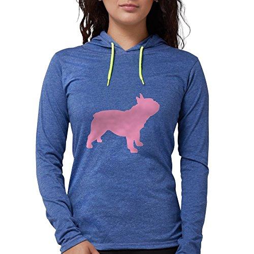 CafePress Pink French Bulldog Long Sleeve T Shirt Womens Hooded Shirt