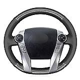 SAXTZDS Cubierta de Fibra de Carbono para Volante, Apta para Toyota Prius 30 (XW30) Prius + Prius C Prius V 2011-2020 Aqua 2014-2015