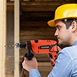 AMZFDC Hammer Drill, Impact Drill 3300RPM 710W, 1/2 inch Corded Drill...