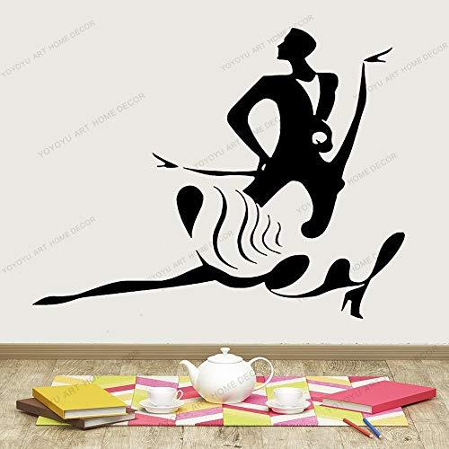 JXAA Flamenco Tanz Wandtattoo Liebe Leidenschaft Tänzer Fitnessstudio Wand Vinyl Aufkleber Home Dekoration Kunst Design Aufkleber Aufkleber 42x60cm