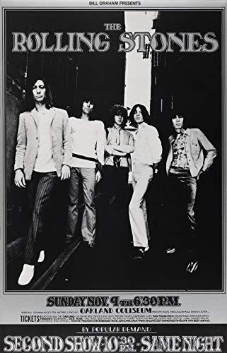 The Rolling Stones konsert väggkonst foto bild rock musik reklam tryck affisch A4
