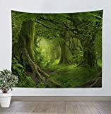 Tapiz Pared Tapices de Pared Tapestry Psicodélico Decoracion Bosque Natural con Felpa Corta Tela Suave Pareos Playa Grandes Para Salón Dormitorio Alfombra Yoga Picnic Decoración de Pared Bohemio