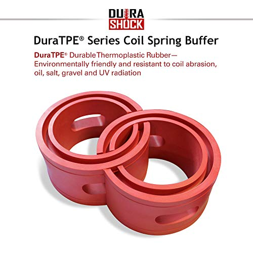 DuraSHOCK U.S. Car Coil Spring Buffer Cushion/Suspension Shock Absorber Retainer Automotive Front-Rear DuraTPE Performance Booster Kit for Universal Type A-F Vehicle Auto Parts (CSB, F)