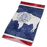 Jxrodekz Vintage Wyoming Flag Beathable Seamless Tube Neck Polaina Cráneo