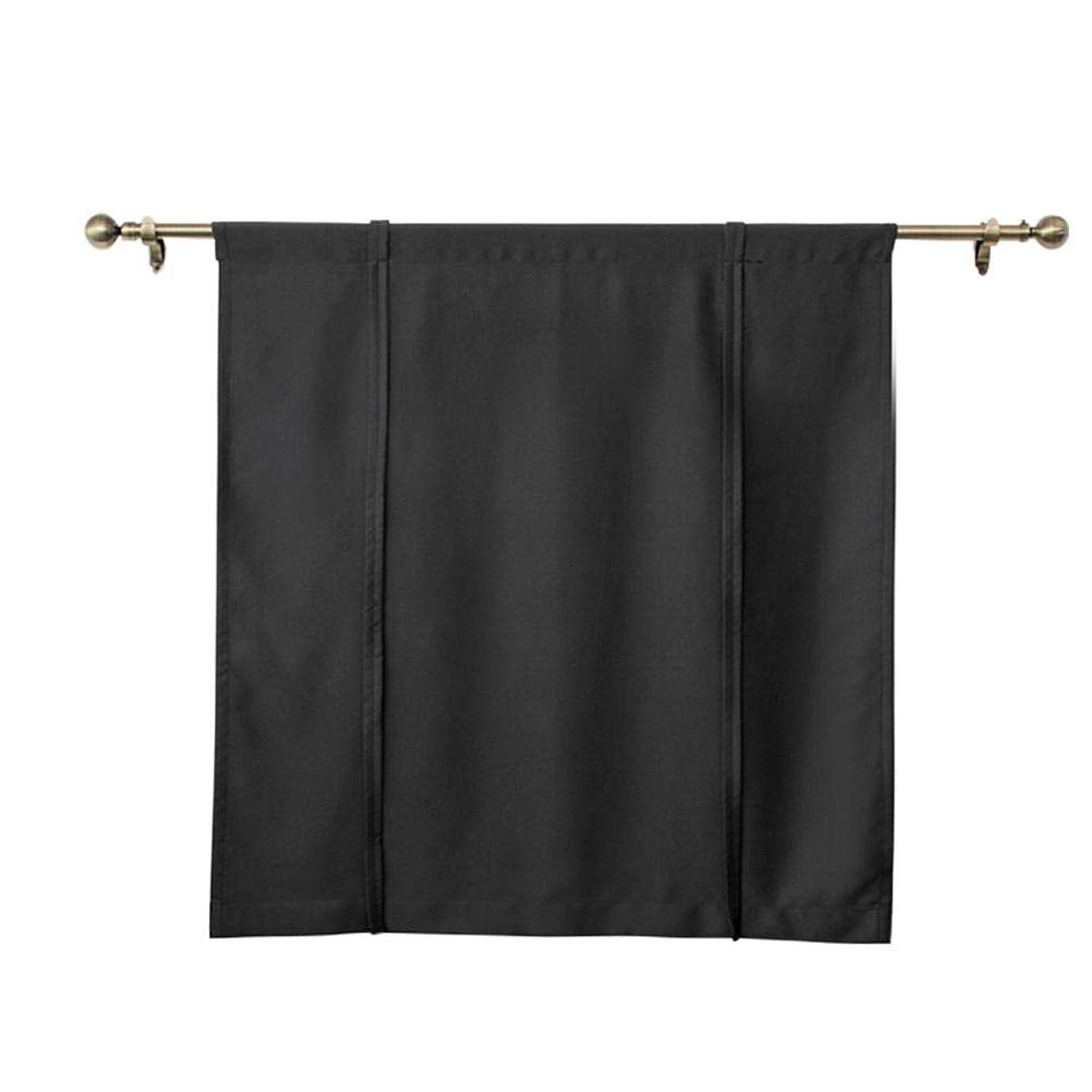 追跡干ばつ威信カーテン 遮光カーテン 遮光のれん ポリエステル製 ローマ式 昇降可能 シンプル 無地 1級遮光 UVカット 断熱 防音 節電 省エネ 昼夜目隠し 洗える ブラック/グレー2色4サイズから選べる
