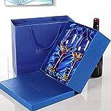 Chunjiao Weinglas Rot Kristall Wein Set Home 2 Stemware Hochzeit Geburtstagsgeschenk Box 350ml...