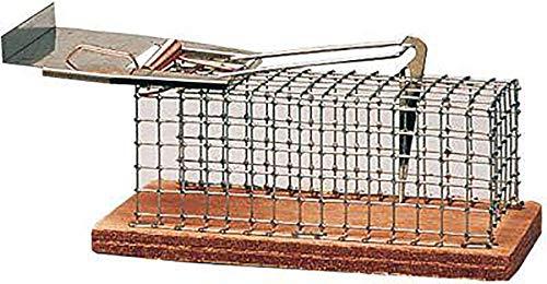 Luna 5001 - Trampa para roedores tipo jaula (metálica, 15 x 5 x 5 cm)