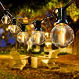IREGRO Luci da Giardino Esterne, G40 20 Catena Luminosa LED, Illuminazione Decorativa Impermeabile per la Casa, Patio, Cortile, Festone, Interno/Esterno (Bianco Caldo)