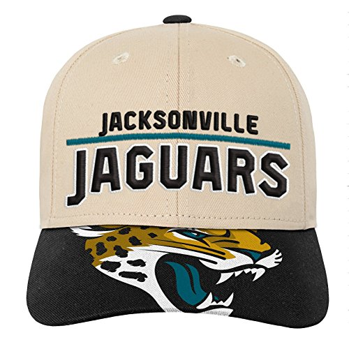 NFL Jacksonville Jaguars Youth Outerstuff Retro Style Logo Structured Hat, Youth One Size, Black
