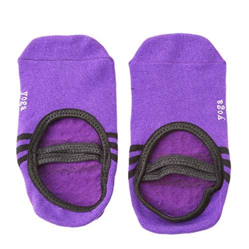 Ifdayy - Calcetines de yoga con correas para mujer, morado oscuro (Morado) - Ifdayy
