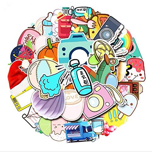 ZZHH 50 Uds pequeña Caricatura Fresca Linda Pegatina Impermeable Funda con Ruedas Scooter Tableta decoración de Coche Juguete al por Mayor