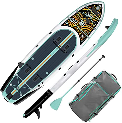 QPP-CL Tablero de paletas Inflable para Pescar Sup con Accesorios | Bolsa de Viajes de Aleta de Paleta de Bomba
