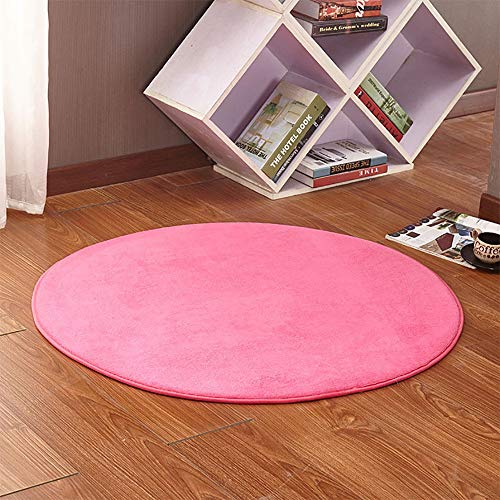 Soft Round Rug Pad Mat For Kids Playhouse Play Tent, Home Decor Dormitory Carpet For Playhouse Princess Tent Kids Play Castle 0927 (Color : Dark pink, Size : 80CM/31.5inch)