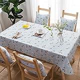LIPENLI Mantel rectangular, algodón lino impermeable a prueba de polvo lavable arrugas Mantel for la cocina del restaurante del partido -140 * 180cm