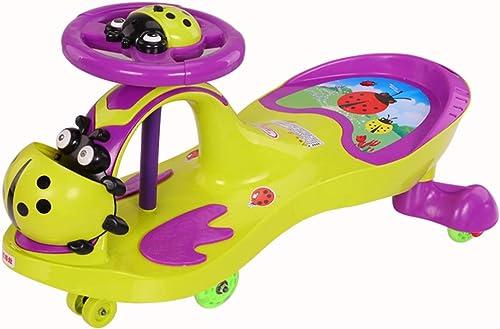 Bobbycars & Rutscher Ride On Swivel Scooter   Kinder Wiggle Gyro   Swing Auto M er und Frauen Baby-Auto-Universalrad Flash-Mute-Rad-Schaukel-Auto-Roller, keine Notwendigkeit, keine Batterie einzuric