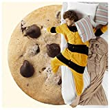 BATTILO HOME Funny Flannel Cookie Chocolate Blanket, Sofa Soft Throw Blankets, Realistic Food Blanket, Perfect for Camping, Home Bed Sleeping Blanket for Kids Child Dog, Diameter 47 inch