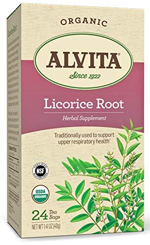 Alvita Organic Licorice Root Herbal Tea - Made with Premium Quality Organic Licorice Root, And Delightful Sweet Flavor and Aroma, 24 Tea Bags