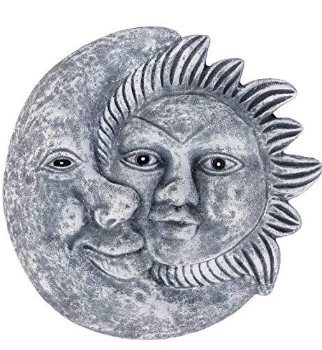 Papier peint en relief Motif soleil et lune, fait à la main, résiste au gel, fabriqué en Allemagne