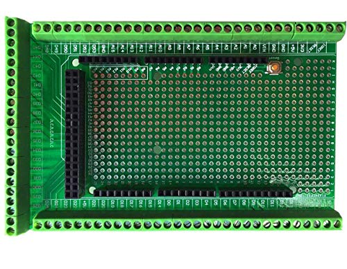 ARCELI Prototipo Tornillo/Bloque de terminales Kit de Placa Protectora para Arduino Mega 2560 R3 DIY Soldado