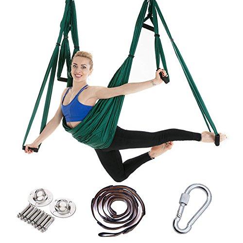 HEEGNPD Swing Air Traction Apparaat Lichaam Vormende Apparatuur met Platte Riem Yoga Hangmat Set Anti-zwaartekracht Stof Nylon Pilates Yoga Swing