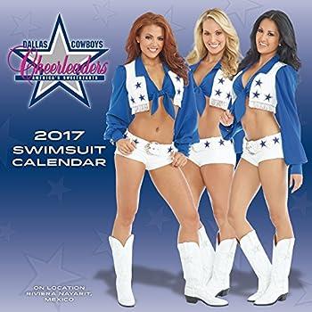 Turner Licensing 2017 Dallas Cowboys Cheerleaders Wall Calendar 15 X15   17998030011