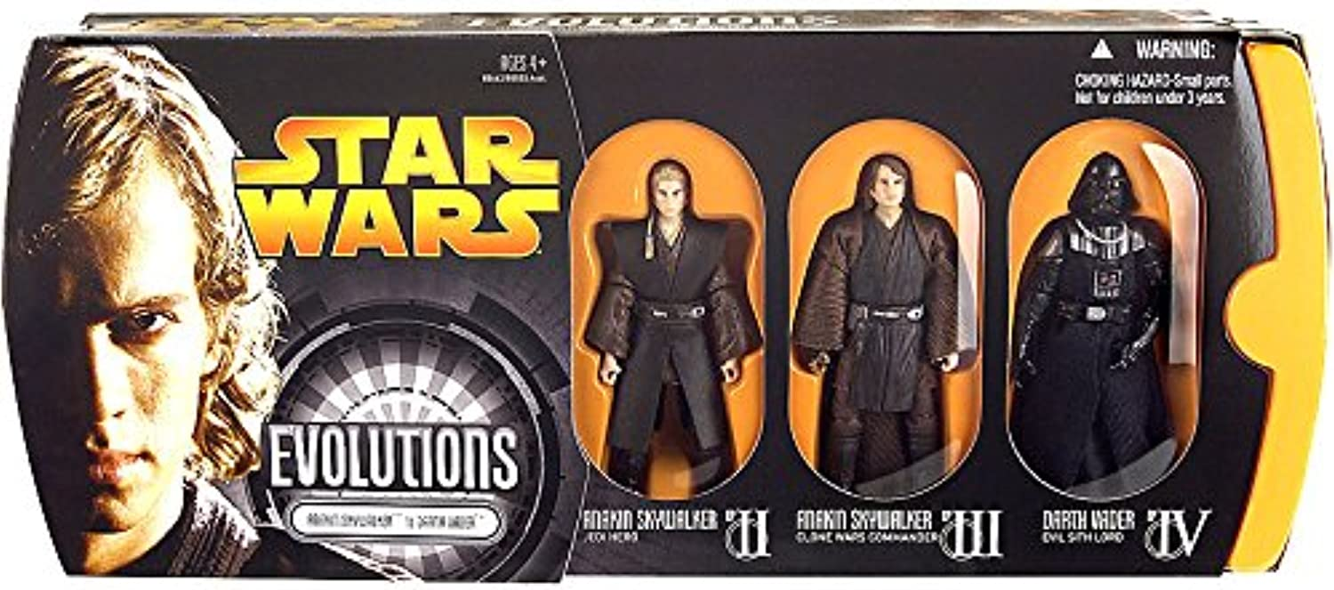 Star Wars  Episode III  Revenge of The Sith Evolutions  Anakin Skywalker to Darth Vader Action Figure Multi-Pack by