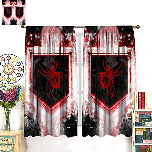 C-All of D-uty World - Cortinas opacas con diseño abstracto de zombies viudas para el hogar, dormitorio, fiesta, decoración de pared, 132 x 213 cm