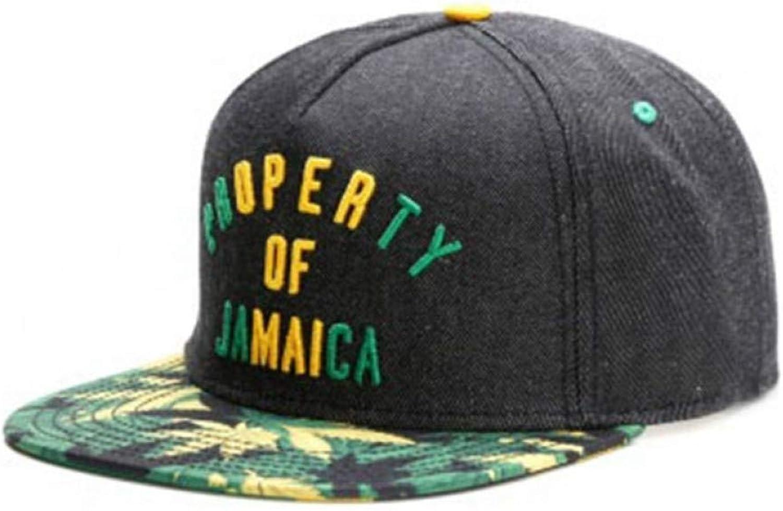 22541bb37914e WYKDA Brand Property of Jamaica Cap Denim Hip hop Snapback hat for Men  Women Adult Outdoor