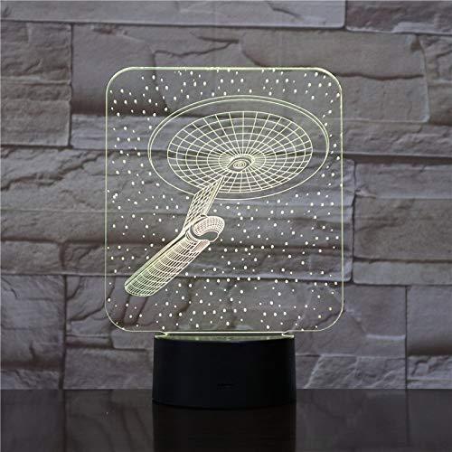 Lámpara de mesa 3D creativa, nave espacial, caza espacial, luz nocturna LED, USB multicolor, el mejor regalo para niños