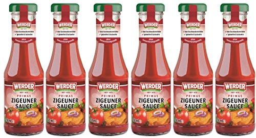 WERDER 6 x Zigeuner Sauce 250 ml