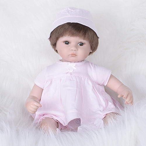 Hongge Reborn Baby Doll,Lebensechte Reborn Baby Puppe Handarbeit lebensechte Weißhe live Puppe 42cm