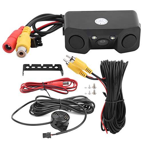 Cámara de estacionamiento Aramox, kit de cámara de visión trasera de coche de aleación de aluminio, sensor de radar de estacionamiento de alta definición impermeable, luz LED, visión nocturna