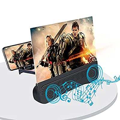 Phone Screen Magnifier with Bluetooth 12-inch,MUROSE Foldable Phone Screen Magnifier,Suitable for Movies, Videos, Games. from Murose