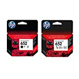 Hewlett-Packard F6V25AE F6V24AE HP 652 HP652 - Juego de cartuchos de tinta originales para HP Deskjet Ink Advantage 1115, color negro y color, potencia: aprox. 360 / color aprox. 200 páginas / 5%