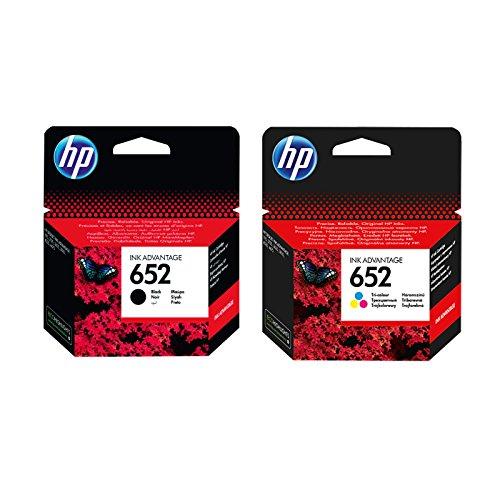 1x Set Original HP Tintenpatrone F6V25AE F6V24AE HP 652 HP652 für HP Deskjet Ink Advantage 3635 - Black + Color - Leistung: BK ca. 360 / Color ca. 200 Seiten/5%