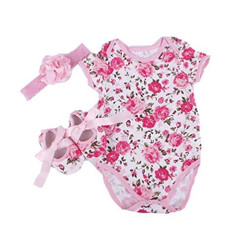NPK Un Traje de Faldas de Tutú para 20-22 Pulgadas de Muñecas de Cumpleaños Vestido de la Muñeca Ropa de Bebé Ropa de Diadema de Zapatos