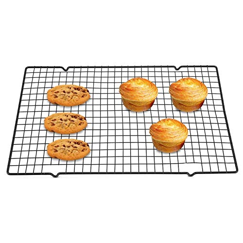 Yosoo Cooling and Baking Roasting Rack Stainless Steel Nonstick Cooking Grill Tray for Biscuit Cake Bread 15.94 x 9.84 x 0.59 inch