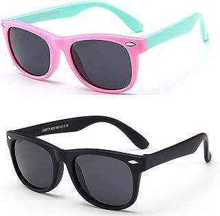 9bbfeb1c2b FOURCHEN Gafas de sol flexibles de goma polarizadas para niños para niñas  de 3 a 10