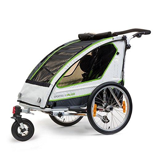 Qeridoo Sportrex - Remolque de bicicleta para 2 niños (2plazas)