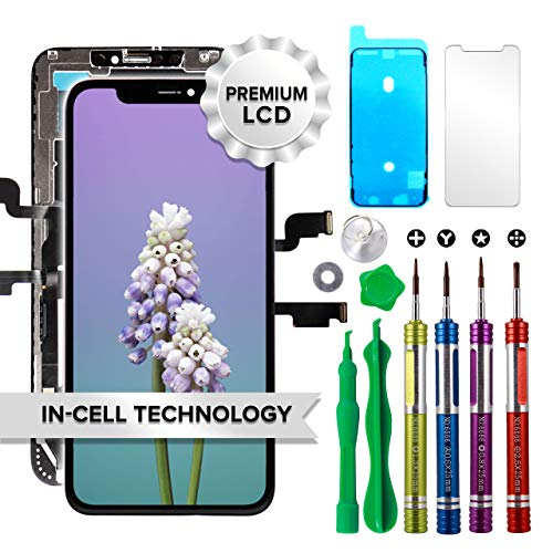 LCD Screen Replacement for iPhone Xs Max 6.5 inch (Model A1921, A2101, A2102, A2103, A2104) Touch Screen Display Digitizer Repair Kit Assembly with Complete Repair Tools