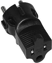 SF Cable, 3 Prong Plug Adapter, USA NEMA 5-15R Receptacle to European Schuko CEE 7