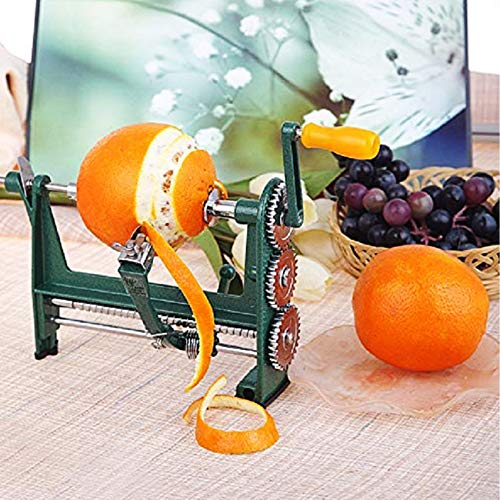 Orange Peeler Hand-cranked Apple peeler Mango Kiwi Peeling Machine Stainless Steel Kitchen Gadgets green 250×110.6×170mm …