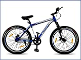 """CAYA Fueled Cycle Freeride Bike for Boys and Girls with Double Wall Alloy Rims and Dual Disk Brakes (24"""" inches , 12 to 15yrs) - Metallic Misano Blue"""