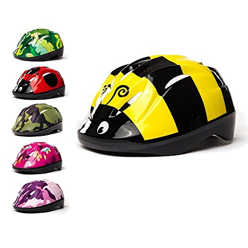 3StyleScooters® SafetyMAX® Kids Cycle Helmet In 6 Awesome Designs - Perfect for Cycling and Scooting - Adjustable Headband & Vented Design - Sizes For Kids Aged 4-11 Years Old (BumbleBee)