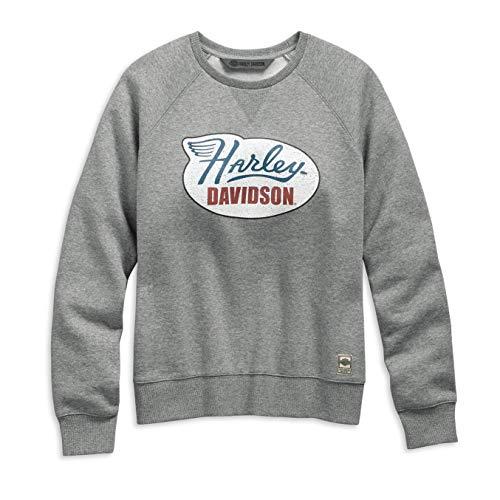 HARLEY-DAVIDSON® Women's Distressed Print Pullover Sweatshirt - 99113-19VW