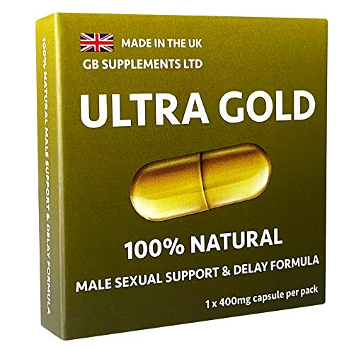 Ultra Gold Delay (1 x 400mg Capsule) Strong Natural Ginseng Supplement for Men. Increase Stamina, Improve Performance, Explosive Energy with Powerful Results.100% Natural Male Support Supplement.