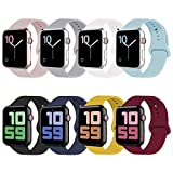 VATI Sport Band Compatible for Watch Band 38mm 40mm, Soft Silicone Sport Strap Replacement Band…