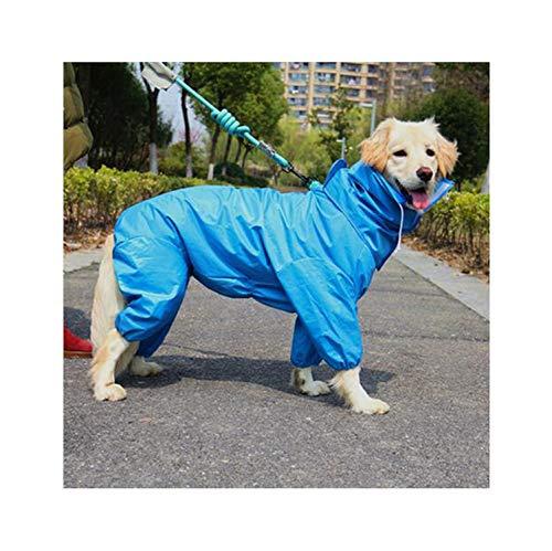 Hopereo Pet Raincoat wasserdichte Kleidung für Hunde-Regen-Mantel mit Kapuze Overalls Umhang Labrador Golden Retriever, 2,30