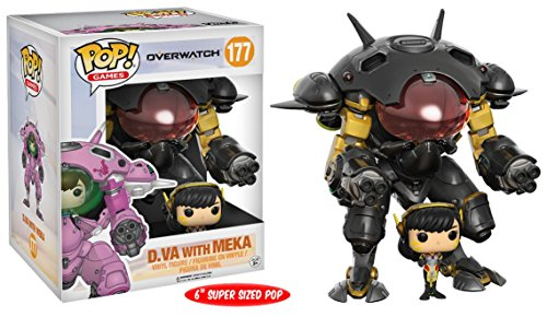Funko Pop! Vinyl Overwatch Carbon Fiber D.Va & MEKA Buddy Exclusive